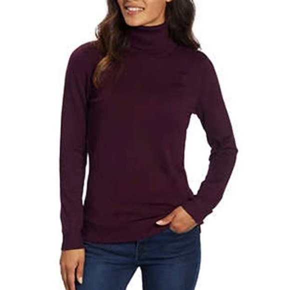 506a9f55e1 Andrew Marc Ladies Turtleneck Sweater Aubergine